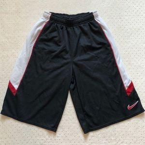 Nike - Men's Basketball Shorts Red/Black - Size M